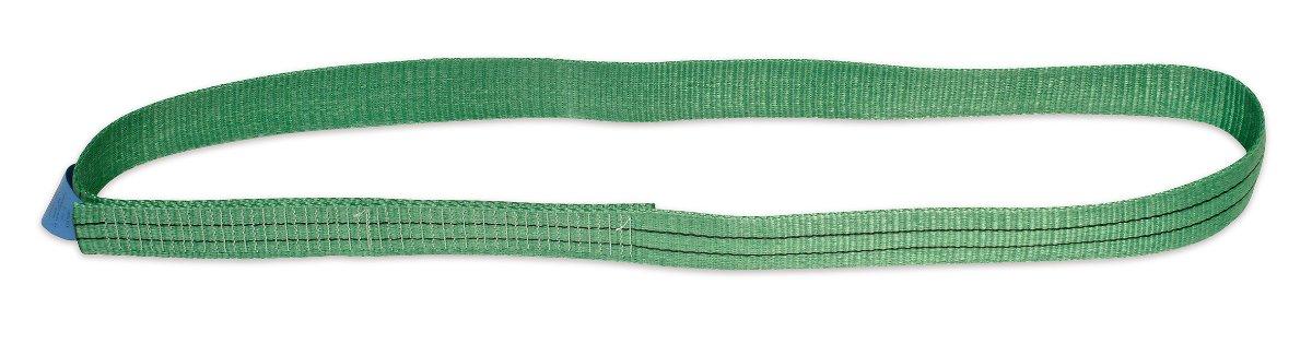 Single layer harness strap, endless, woven