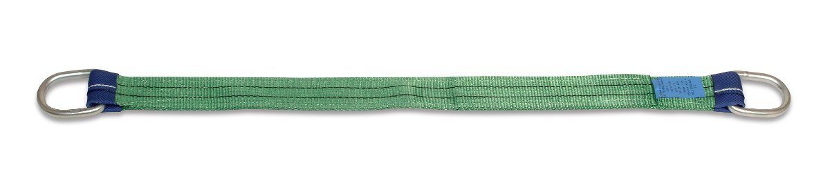Two layer harness strap with metal slings