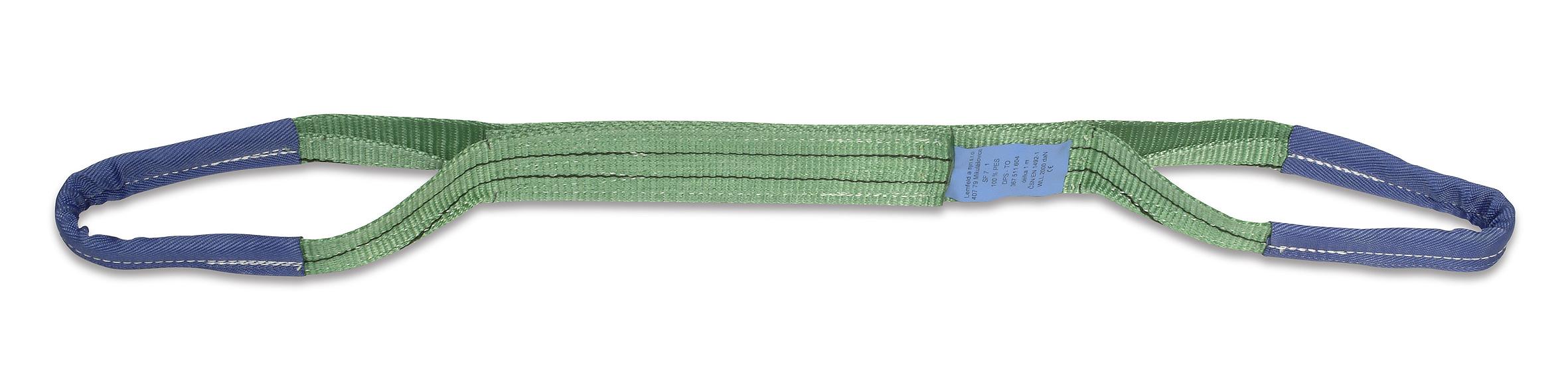 Dvouvrstvý popruhový pás s textilními oky